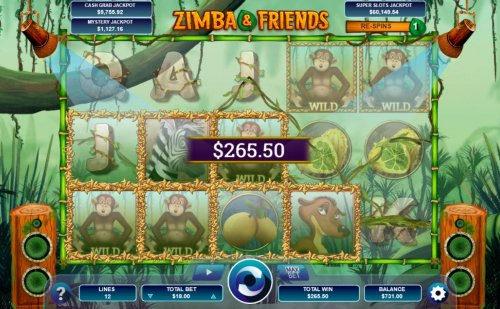 Monkey wilds trigger multiple winning paylines during the re-spin feature. - Hotslot