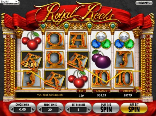 a 300 coin jackpot awarded for multiple winning paylines - Hotslot