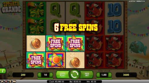 Six free spins triggered by mini-slot feature by Hotslot