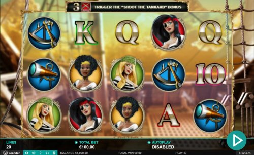 Main game board featuring five reels and 20 paylines with a $12,500 max payout. - Hotslot