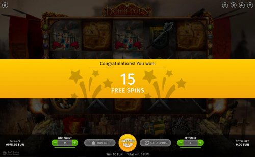 15 Free Spins awarded player. - Hotslot
