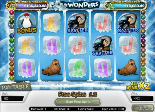 Hotslot - free spins can be re-triggered during the free spins feature