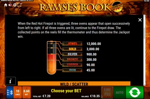 Hotslot image of Ramses Book Red Hot Firepot