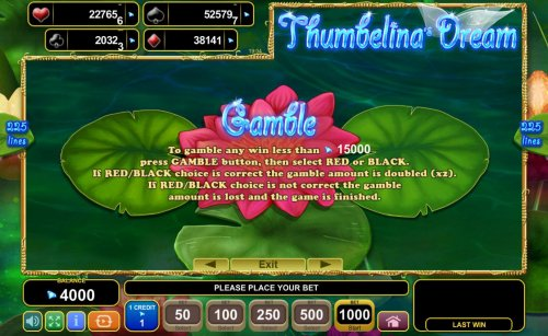 Images of Thumbelina's Dream