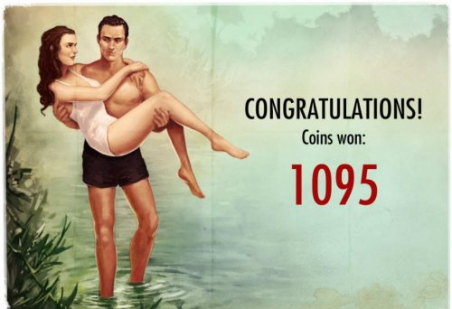 Hotslot - free spins triggers a 1095 coins pay out