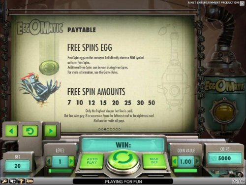 Hotslot - free spins egg and free spin amounts