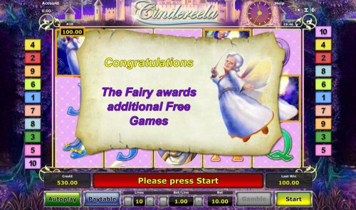 Fairy God-Mother awards additional free games. by Hotslot