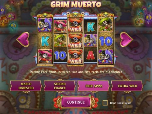 Free Spins - Durig free spins, between two and five reels are highlighted. by Hotslot