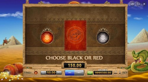 Gamble Feature - To gamble any win press Gamble then select Red or Black. - Hotslot