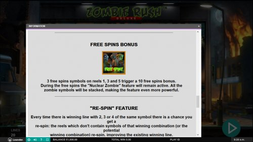 Zombie Rush Deluxe by Hotslot