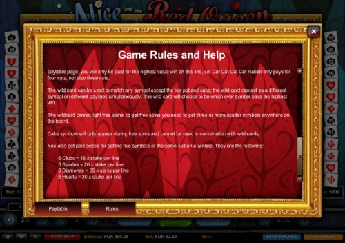 Hotslot - Game Rules and Help - Part 2