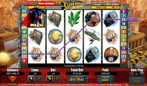 Superman wild triggers a $450 line pay - Hotslot