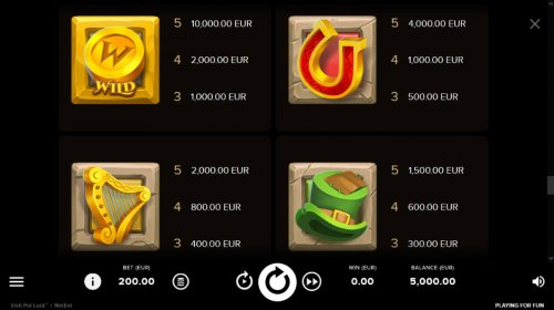 Paytable - High Value Symbols by Hotslot