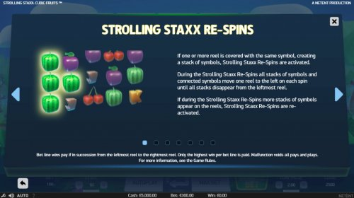Strolling Staxx Cubic Fruits by Hotslot