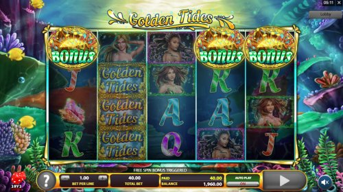 Scatter symbols triggers the free spins feature - Hotslot