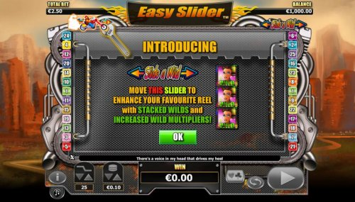 Hotslot - Slide-A-Wild - move the slider to enhance your favorite reel with stacked wilds and increased wild multipliers
