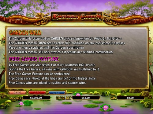 garden wild and free games feature rules by Hotslot