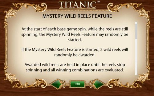 Mystery Wild reels Feature - At the start of each base game spin, whille the reels are still spinning, the Mystery Wild Reels Feature may be randomly started. - Hotslot