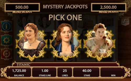 Hotslot - Mystery Jackopts Feature Triggered - Pick one of the ladies portraits to reveal a prize.