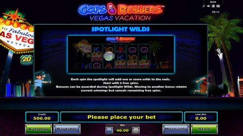 Cops 'n' Robbers Vegas Vacation by Hotslot