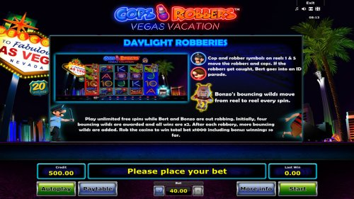 Hotslot image of Cops 'n' Robbers Vegas Vacation