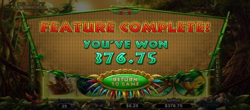 Player is awarded a 376.75 cash prize after completing 10 free spins. - Hotslot