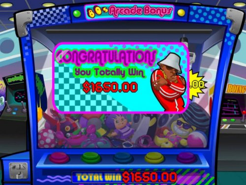 Hotslot - Arcade Bonus game pays out a total win of $1,650 for a BIG WIN!
