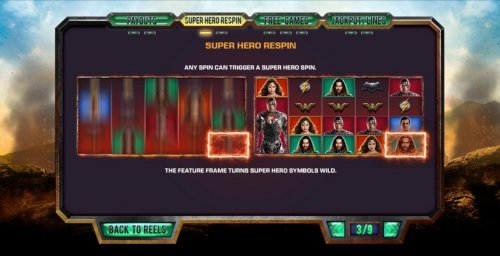 Super Hero Respin Rules by Hotslot