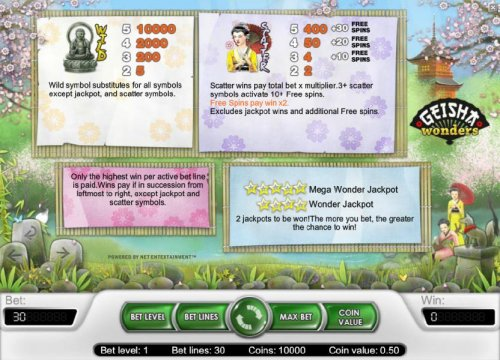 wild, scatter and jackpot game rules with pays by Hotslot