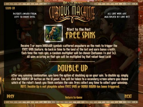 free spins and double up feature rules by Hotslot