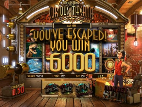 you've escaped! bonus round pays out 6000 credits - Hotslot
