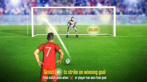 Select one of four zones to strike a winning goal - Hotslot