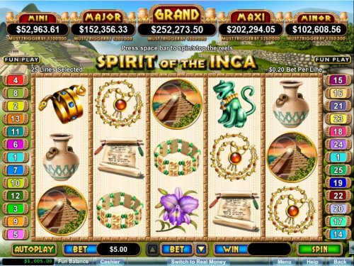 Hotslot image of Spirit of the Inca