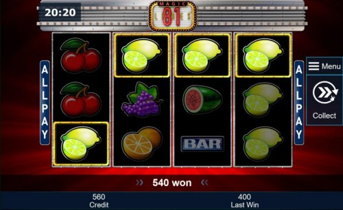 Multiple winning combinations leads to an 540 coin jackpot. by Hotslot