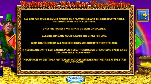 Images of Rainbow Riches Free Spins