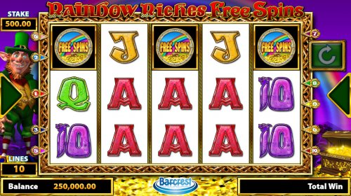 Hotslot image of Rainbow Riches Free Spins