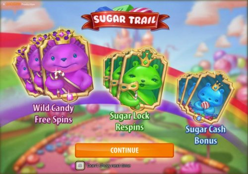 Hotslot - features include wild candy free spins, sugar lock respins and sugar cash bonus