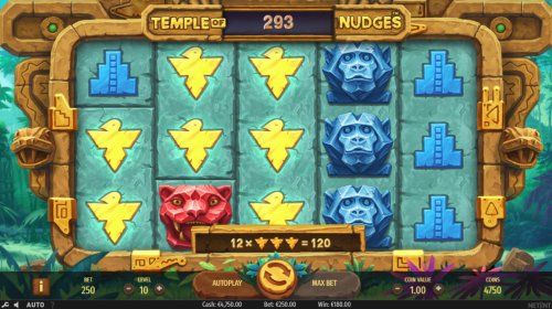 Winning combination triggers the Nudge feature - Hotslot