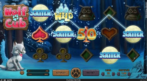 Scattered Full Moon scatter symbols activates the Free Spins feature. by Hotslot