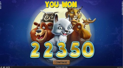 Hotslot - Free Games feature pays out a total of 22,350 for a super mega win.