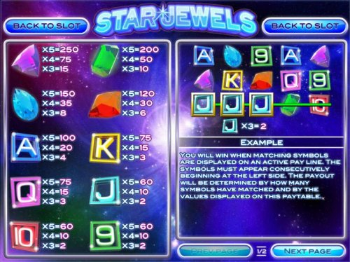 Low value game symbols paytable - Hotslot