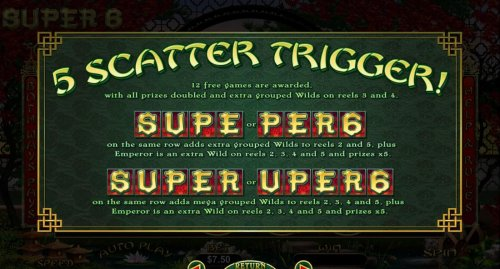 Hotslot - 5 Scatter Trigger Rules - continued.