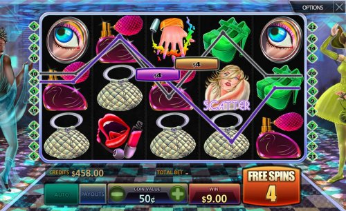 Hotslot - Multiple winning paylines triggers a big win during the free spins feature!