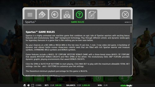 General Game Rules - The theoretical average return to player (RTP) is 96.61%. by Hotslot