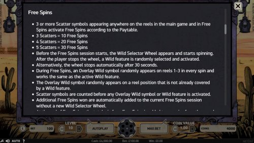 Free Spins Game Rules by Hotslot