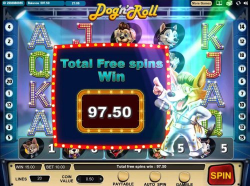 Hotslot - Total Free Spins Win 97.50