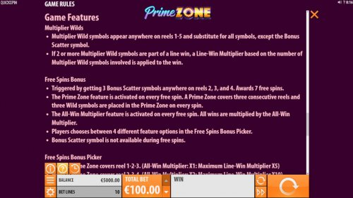 Images of Prime Zone