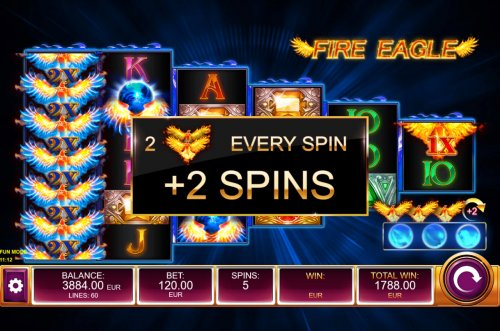 An additional 2 free spins awarded - Hotslot