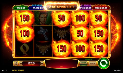 Spin the reels for a chance to land more firecatcher symbols - Hotslot