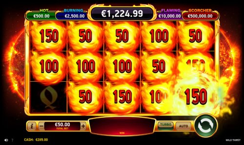 Bonus play ends when the reels are filled with firecatcher symbols or spins run out - Hotslot